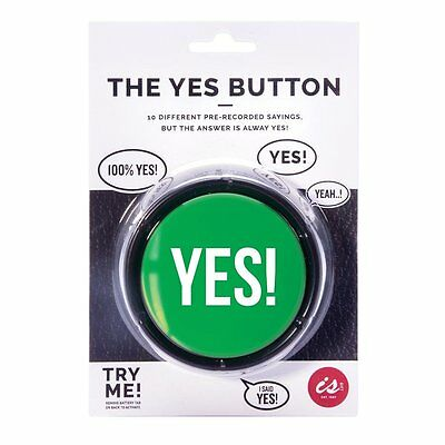 The YES! Button 10 Different Sayings Novelty Office Desk Gift New