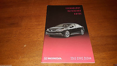 2013 New Honda Civic Sedan Technology Quick Reference Guide