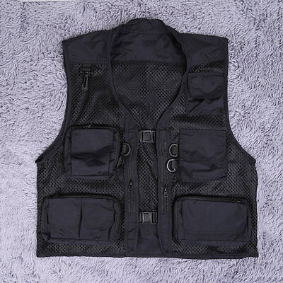 Buckle Men's Spring And Summer Fishing And Photography Work Mesh Vest Garment AH