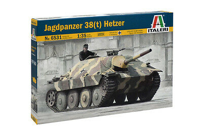 Italeri 6531 1/35 Model Kit WWII German Tank Destroyer Jagdpanzer 38(t)Hetzer
