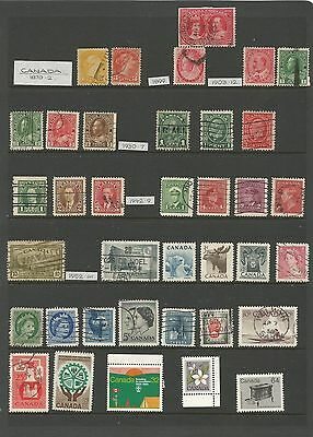X/51 Collection British Commonwealth Stamps  Canada