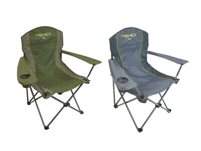 BBQ chair seat camping camp fishing with drink holder 120kg Phone pouch CC6