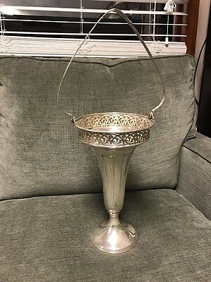 Rare Pairpoint Quadruple Silver Plated Tall Flower Basket C1500