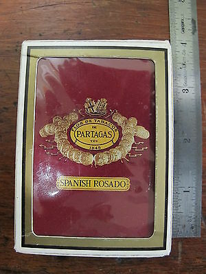 Spanish Rosado Playing Cards Partagas Handmade Cigars Dominican Republic