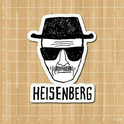 "Breaking Bad Heisenberg Vinyl Decal Sticker (2"" x 3"") - AMC Bryan Cranston"