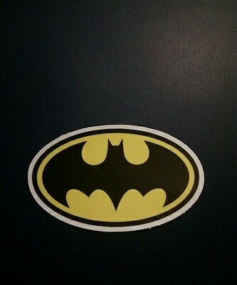 "Batman Logo Vinyl Decal Sticker (3"" x 1.5"") - DC Comics Warner Brothers"