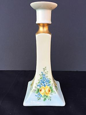 B & Co. Bernardaud Limoges France Candlestick Candle Holder Hand Painted