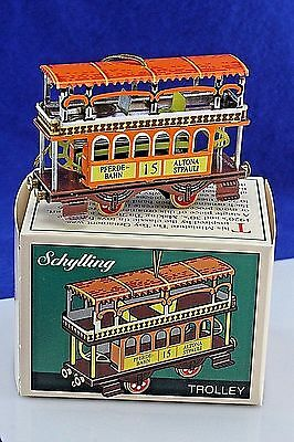 "Tin Toy Schylling ""Trolley"" Christmas Ornament."