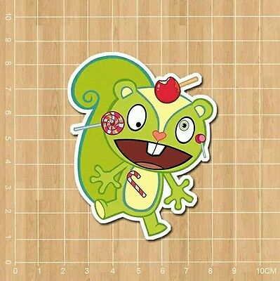 "Happy Tree Friends Nutty Vinyl Decal Sticker (3"" x 3"") - Cartoon"