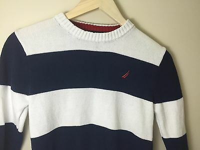 Boys Nautica  Sweater, size small (8) Navy Blue and White