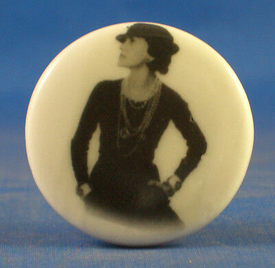 1 inch China Collectable Sewing Button -- Coco Chanelle Little Black Dress