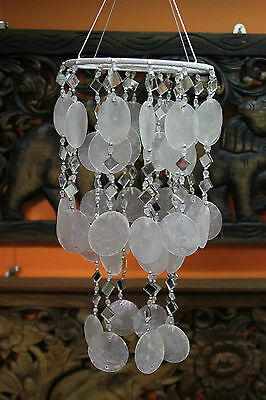 Dream Catcher Mobile Chime With Capri Shells and Mirrors 53 cm Overall Drop