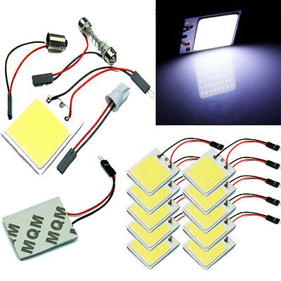 48 SMD COB LED T10 4W 12V Light Car Interior Panel Lights Dome Lamp Bulb