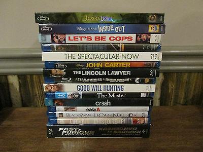 Wholesale Lot of Blu-Ray Movies (The Jungle Book, Fast & Furious, Inside Out)