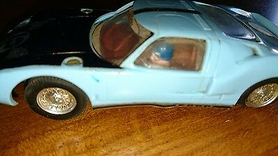 Ford gt triang scalextric no 12 light blue slot cars