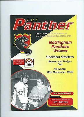 98/99 Nottingham Panthers v Sheffield Steelers Sept 12th
