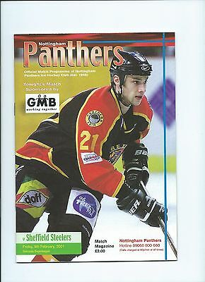 00/01 Nottingham Panthers v Sheffield Steelers  Feb 9th