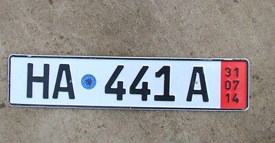 Euro Number License plate car truck germany Genuine Temporary  Export HA 441 A