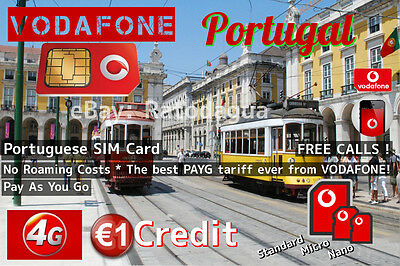 Portuguese Sim Card-Vodafone Portugal +351 - Best PAYG Plan For Expats!