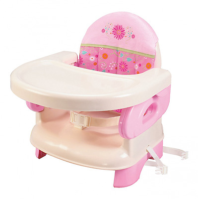 Summer Infant Deluxe Comfort Folding Booster Seat, Pink-2-in-1: feeding seat