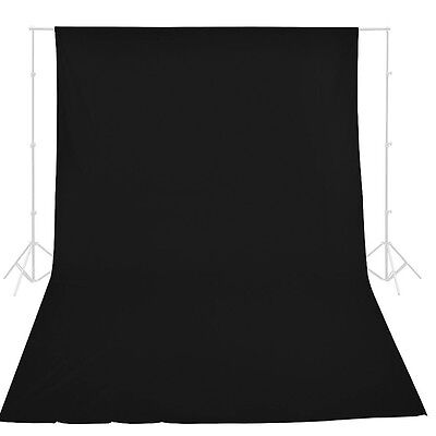 Photography Studio 3x6M Black Muslin Backdrop 100% Cotton Screen Background New