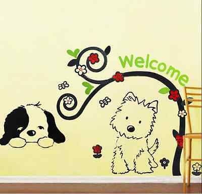 Cartoon Cute Dog DIY Wall Stickers Nursery Kids Boys Room  Decor Decal Sticker