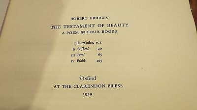 The Testament of Beauty A Poem in Four Books 1929 Hardback Limited Edition