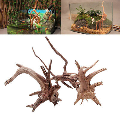 Natural Tree Trunk Driftwood Aquarium Fish Tank Plant Wood Ornament Decoration