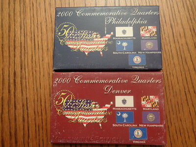 2000-D&P Commemorative State Quarter Set 10 Coins