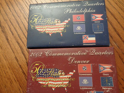 2002-D&P Commemorative State Quarter Set 10 Coins