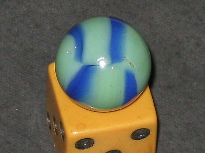 Htf Color Combo Green & Blue Vintage Peltier Glass Marble Marbles