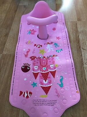 Mothercare Aqua Pod In Pink Bath Seat And Mat