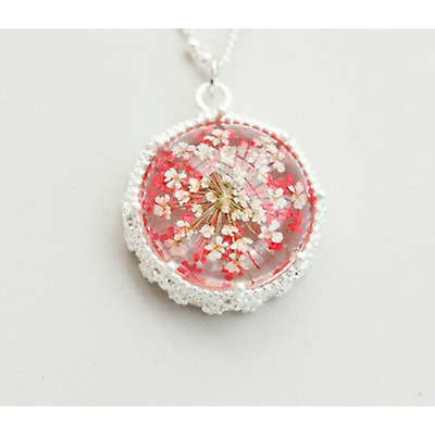 Real White Daisy Handmade Necklaces Pendants Dried Pressed Natural Fresh Flower