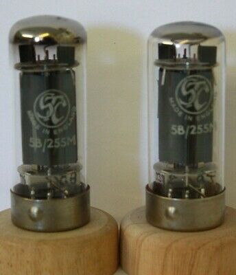 5B-255M Cv391 Stc Logo And Government Print Matched Pair Nos Tube Valve