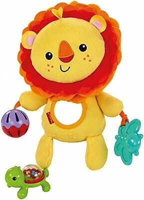 Fisher-Price Activity Toy Lion Multi-layered Tactile Mane Mirror Jingle Ball