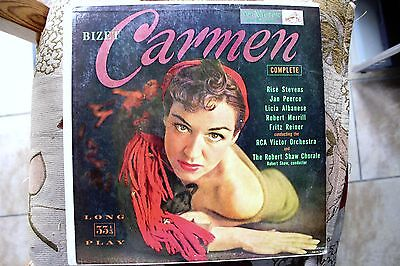 Lm 1749  -Bizet-Carmen Highlights In French - Vintage Canadian Rca Red Seal Lp