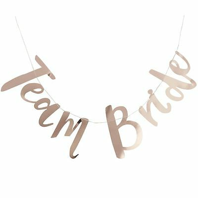Rose Gold Team Bride Banner Bunting Backdrop Hen Party Decoration