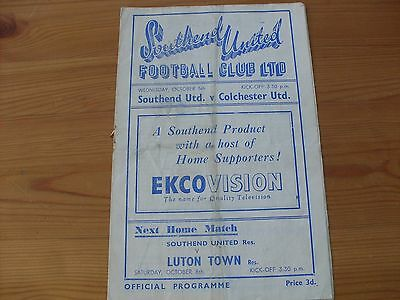 Southend Res v Colchester EPC programme dated 5-10-1949  (487)