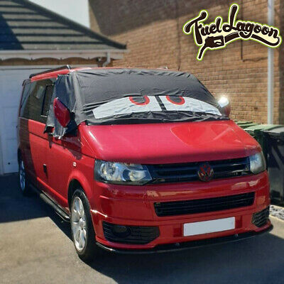VW Transporter T5 Window Screen Curtain Cover Frost Protection Blinds Eyes Red