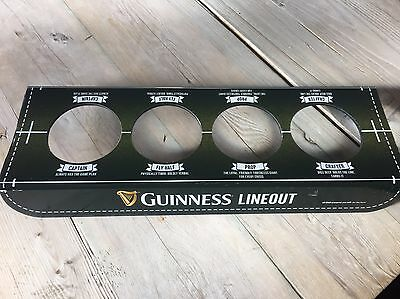 Guinness Rugby Lineout 4 Pint Tray Beer Glass Holder Pub/Home Bar/Man Cave