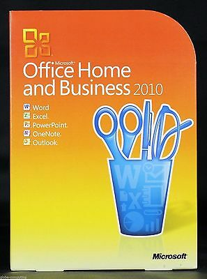 Microsoft Office 2010 Home And Business 32/64 Bit DVD (Retail Version in Box)