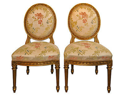 Antique French Side Chair Set of 2