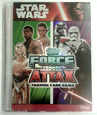 Star Wars Force Attax The Force Awakens Full Set In Binder