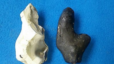 two uk neolithic idols.mother godess & a phallus fertility idols