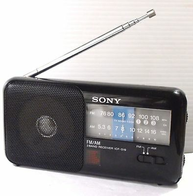 SONY ICF-S19 AM/FM Transitor Radio  Works. Made in Japan