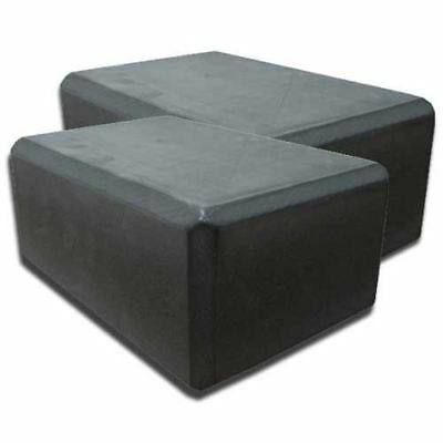 2pcs Yoga Block Brick Foaming Foam Home Exercise Practice Gym Sport Tool Black