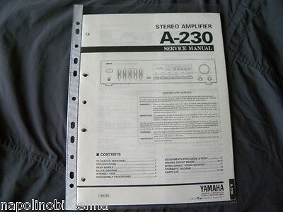 Yamaha A-230 Factory Original Service Manual New