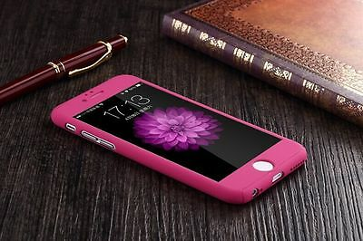 New Full Tempered Glass + Acrylic Hard Case Cover For iPhone 6 & 6S Plus