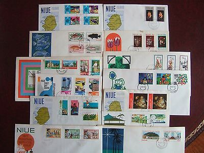 NIUE -  COLLECTION OF 13 x DIFFERENT FIRST DAY COVERS 1971-1978