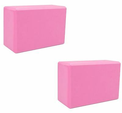2pcs Yoga Block Brick Foaming Foam Home Exercise Practice Gym Sport Tool Pink